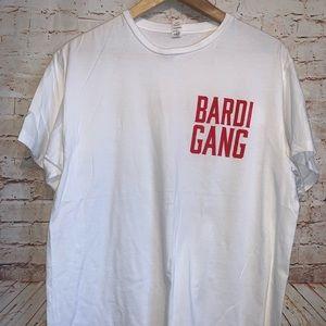 "Cardi B ""Bardi Gang"" t shirt sz Large"